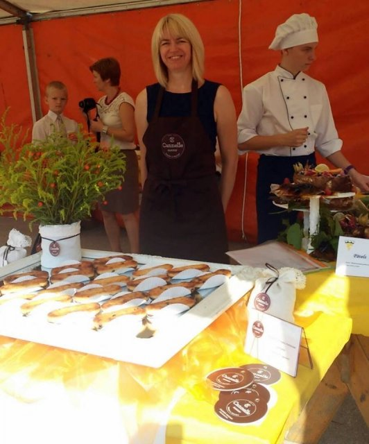 Cannelle Bakery in the Milk, Bread and Honey Festival in Jelgava